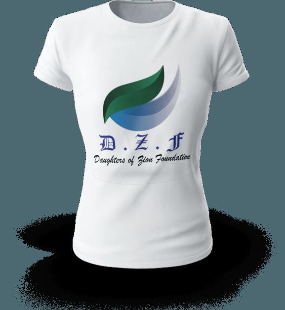 dzf white t-shirt